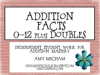 Addition Facts Practice 1-12 Mega Pack