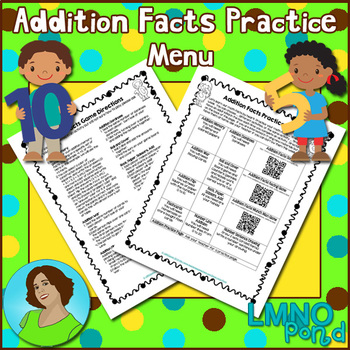 Addition Facts Homework Menu