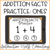 Addition Facts Fluency Practice: Ones Interactive PDF Pape