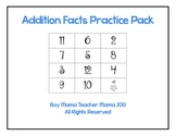 Addition Facts Practice Pack
