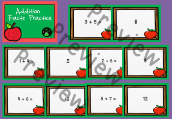 Addition Facts Practice Powerpoint