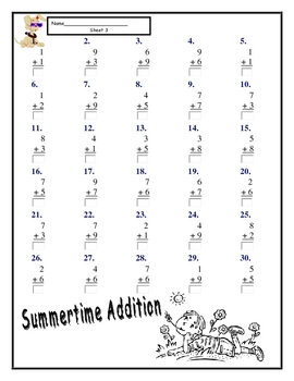 Addition Facts - Practice of Basic Facts