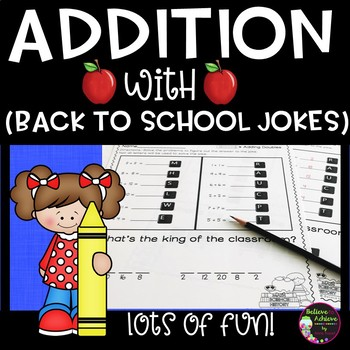 Addition Facts Practice with Back to School Jokes