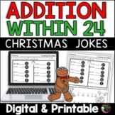 Addition Facts Practice with Christmas Jokes