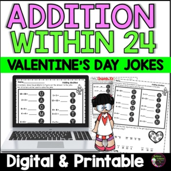 Addition Facts Practice with Valentine Jokes