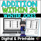 Addition Facts Practice with Winter Jokes