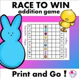 Addition Facts Race to Win Game; Easter Set