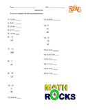 Addition Facts Sheet