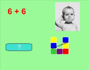 Addition Facts Smartboard Game