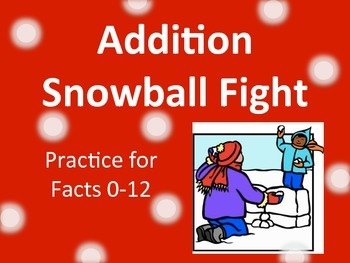 Addition Facts Snowball Fight Game