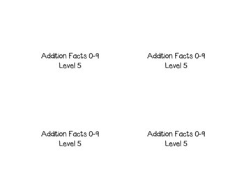 Addition Facts Square Puzzle-Level 5