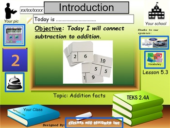 Addition Facts Strategies: Connect Subtraction to Addition (TEKs 2.4A)