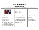 Addition Facts Strategies Reference Sheet--Use with Array Abacus!