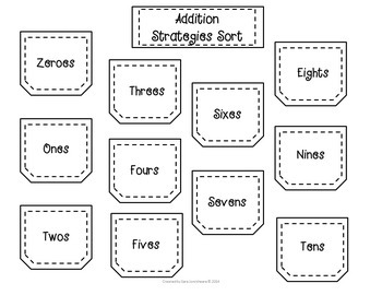 Interactive Notebook - Addition Facts
