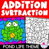 Subtraction & Addition Facts Color by Number Bundle; Sprin