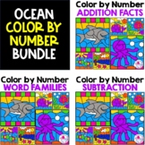 Addition Facts, Subtraction Facts & Word Families Color by