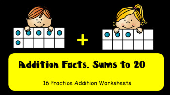 Addition Facts - Sums 0-20