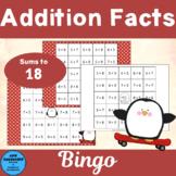 Addition Facts Sums 10 - 18 Bingo