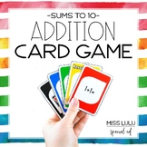 Addition Facts (Sums to 10) Card Game