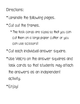 Addition Facts Task Cards - 1-9