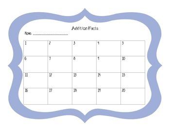 Addition Facts Task Cards 4 set Bundle