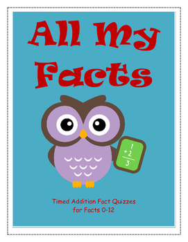 Addition Facts Timed Quizzes