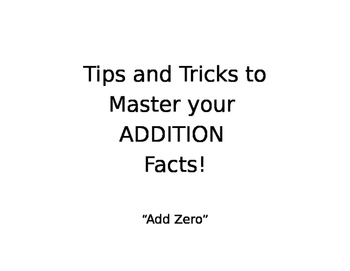 Addition Facts: Tips and Tricks