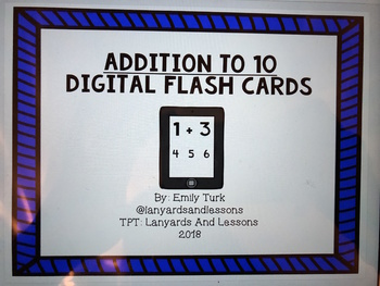 Addition Facts To Ten Digital Flash Cards