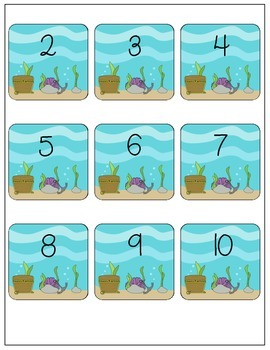 Addition Facts Up To 10 - Ocean Life Theme