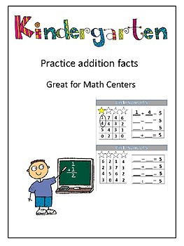 Addition Facts. Ways to make a number