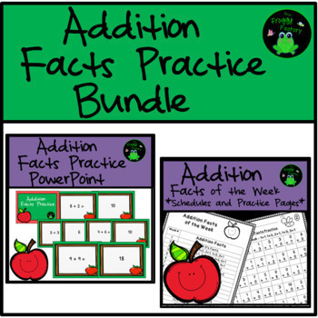 Addition Facts Worksheets and PowerPoint Bundle