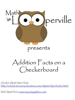 Addition Facts on Checkerboard