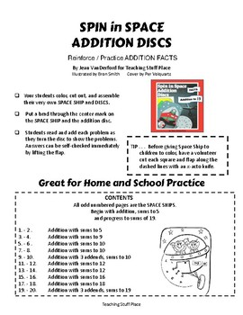 Addition to 19 | Space Ships DISCS | Hands-on | Color and Learn | CORE Gr 1 MATH