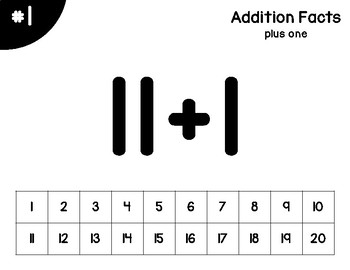 Addition Facts practice - Interactive PDF