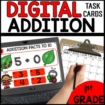 Addition Facts to 10  DIGITAL TASK CARDS