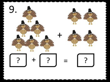 Addition Facts to 12---Thanksgiving Theme