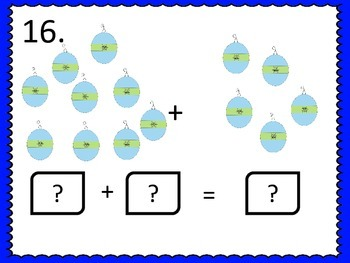 Addition Facts to 15 Center & Worksheets--Christmas theme
