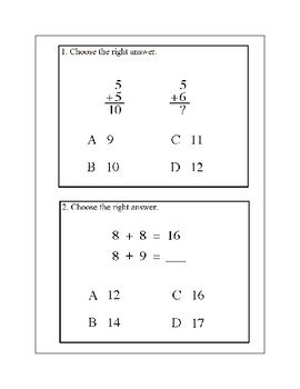 Addition Facts to 18-Using Doubles