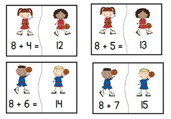 Addition Facts to 20 - Basketball Theme