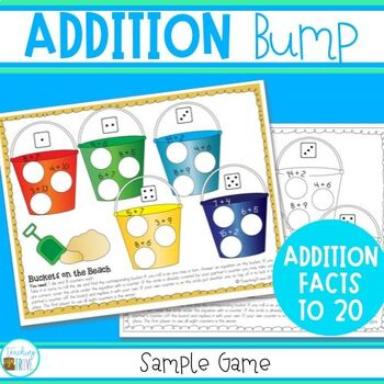 Addition Facts to 20 - Bump game freebie