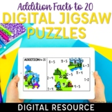 Addition Facts to 20 Digital Math Facts Jigsaw Puzzles