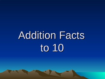 Addition Facts to 20 - Power Point