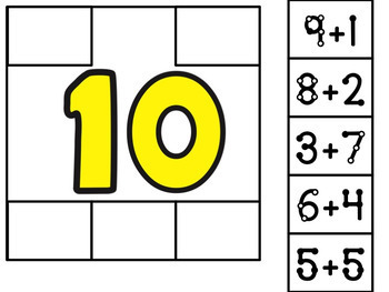 Addition to 20 Sorting Cards and Worksheets:  Touch Math