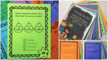 Addition Facts to 20 Strategies & Problem Solving: 38 Multiple Choice Task Cards