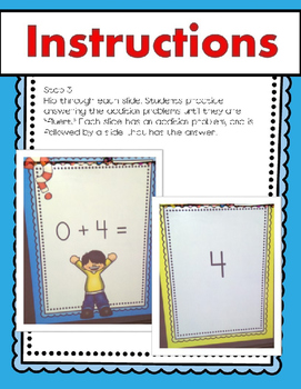 Addition Facts to 5 & 10 Math Facts Powerpoint Slideshow