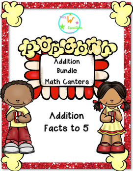 Addition Facts to 5 Math Centers