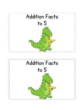 Addition Facts to 5; a fluency practice booklet