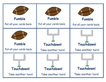 Addition Facts to Ten - Fumble