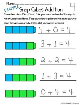 Addition Facts to Ten Math Center Activities Bundle