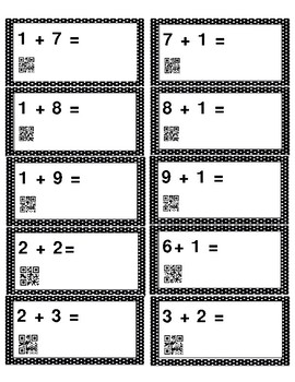 Addition Facts with QR Code Answers